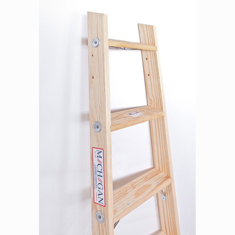 Michigan Wood Pipeline Stepladder - 300 lb. Capacity (1320-S Series)