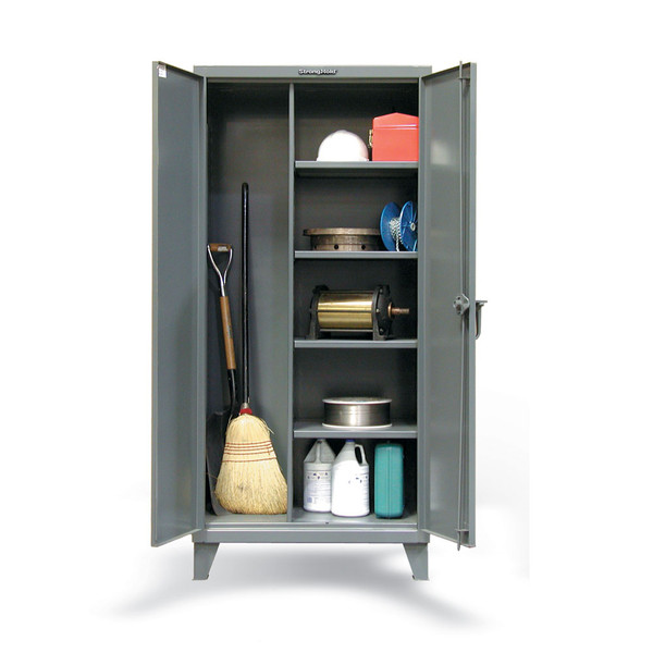 Strong Hold 12 Gauge Heavy Duty Janitorial Storage Cabinet 48 X 24 72