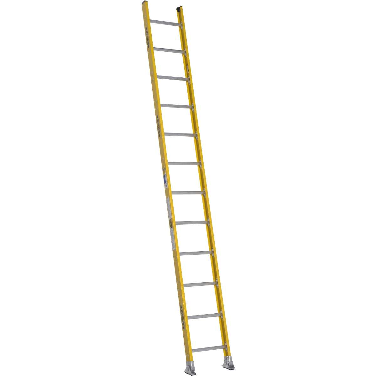Fiberglass Round Rung Straight Ladder - 375 lb. Rated (7100-1)