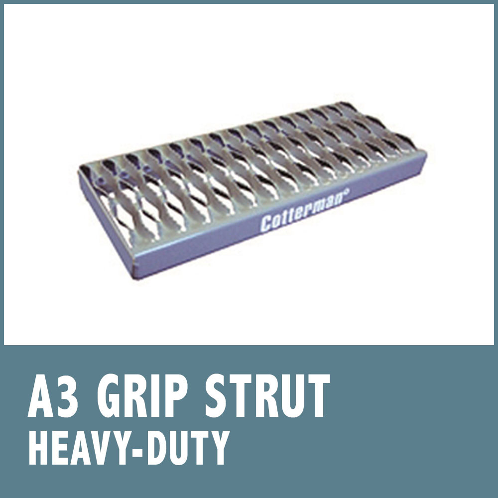 "Series ""A"" 24"" Tread Width Ladders with Serrated Tread (A3)"