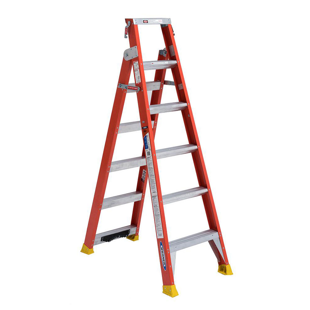 Fiberglass Dual Purpose Ladder - 300 lb. Capacity (DP6200 Series)
