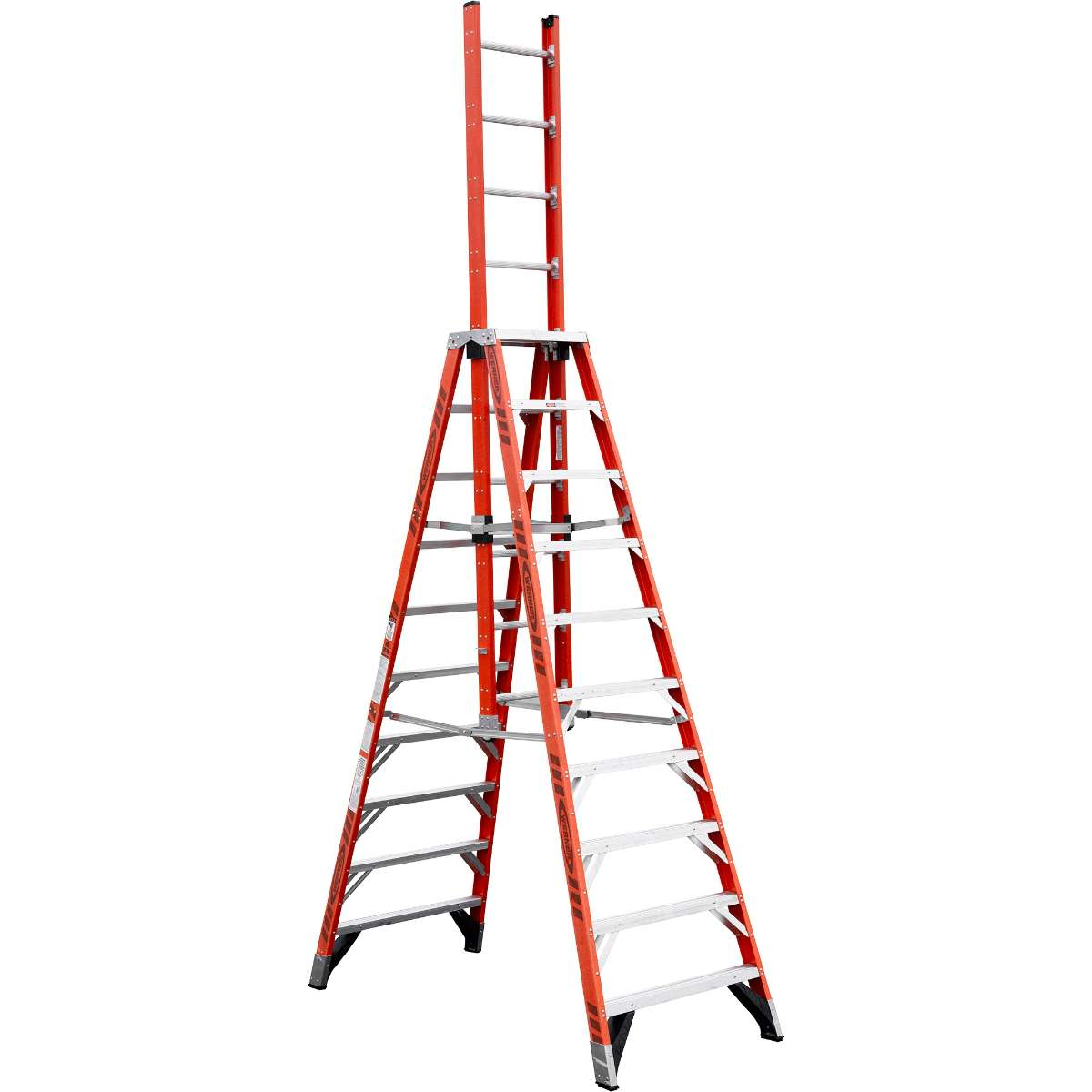 Fiberglass Ext. Trestle Ladder - 300 lb. Capacity (E7400 Series)