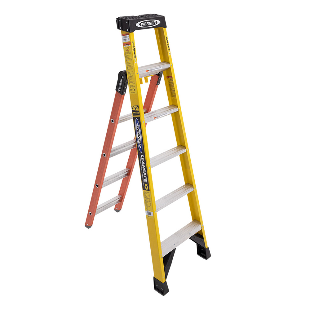 Werner LeanSafe Dual Purpose Leanding Ladder - 375 lb. Capacity