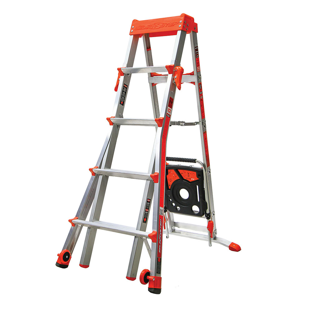 Adjustable A-Frame Ladders