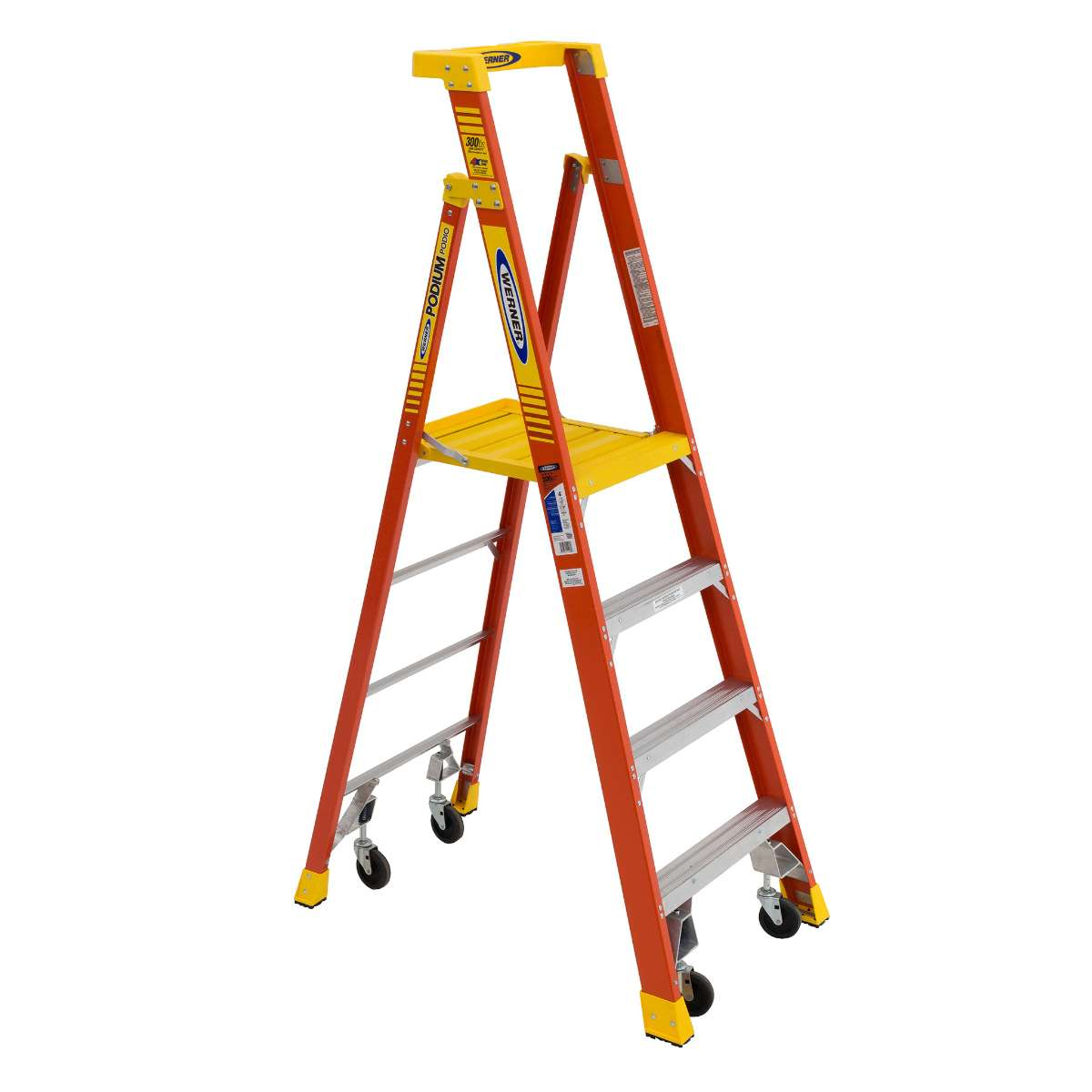 Podium Ladder with Castors - 300 lb. Capacity (PD6200-4C Series)