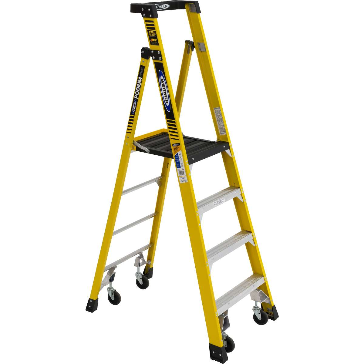 Podium Ladder with Castors - 375 lb. Capacity (PD7300-4C Series)