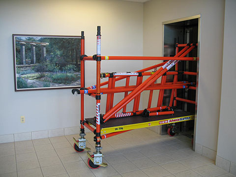 Fiberglass Scaffolding as a cart