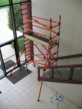 Fiberglass Scaffolding Staircase Example 1