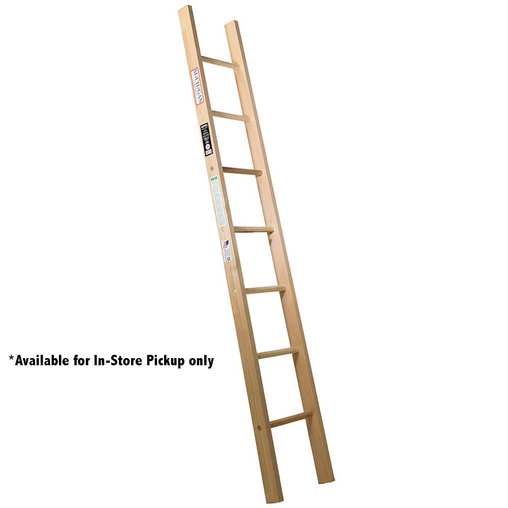 Michigan Wood Straight Ladder - 250-300 lb. Rated (WSTR-Series)