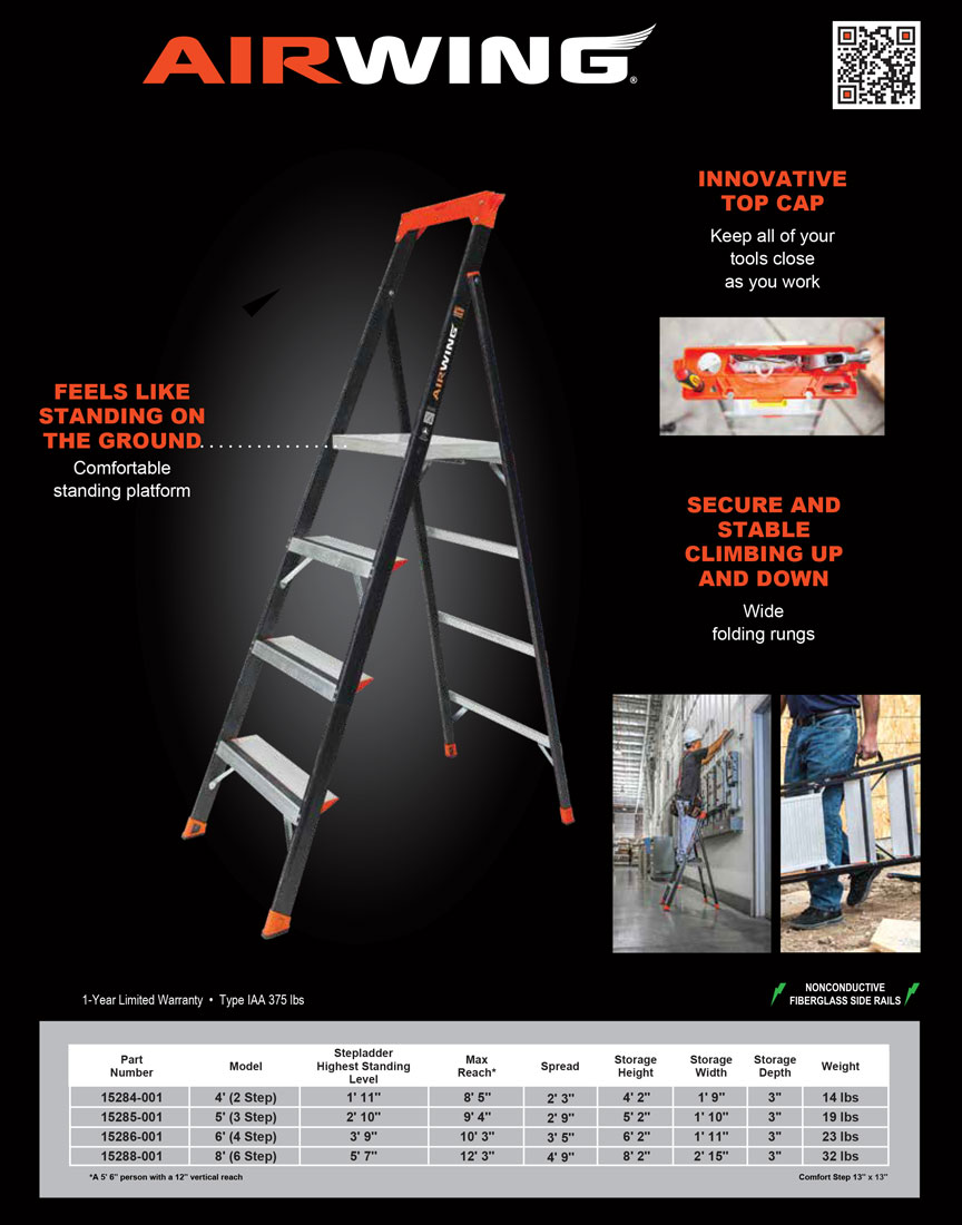 Little Giant AirWing Ladder Technical Specifications