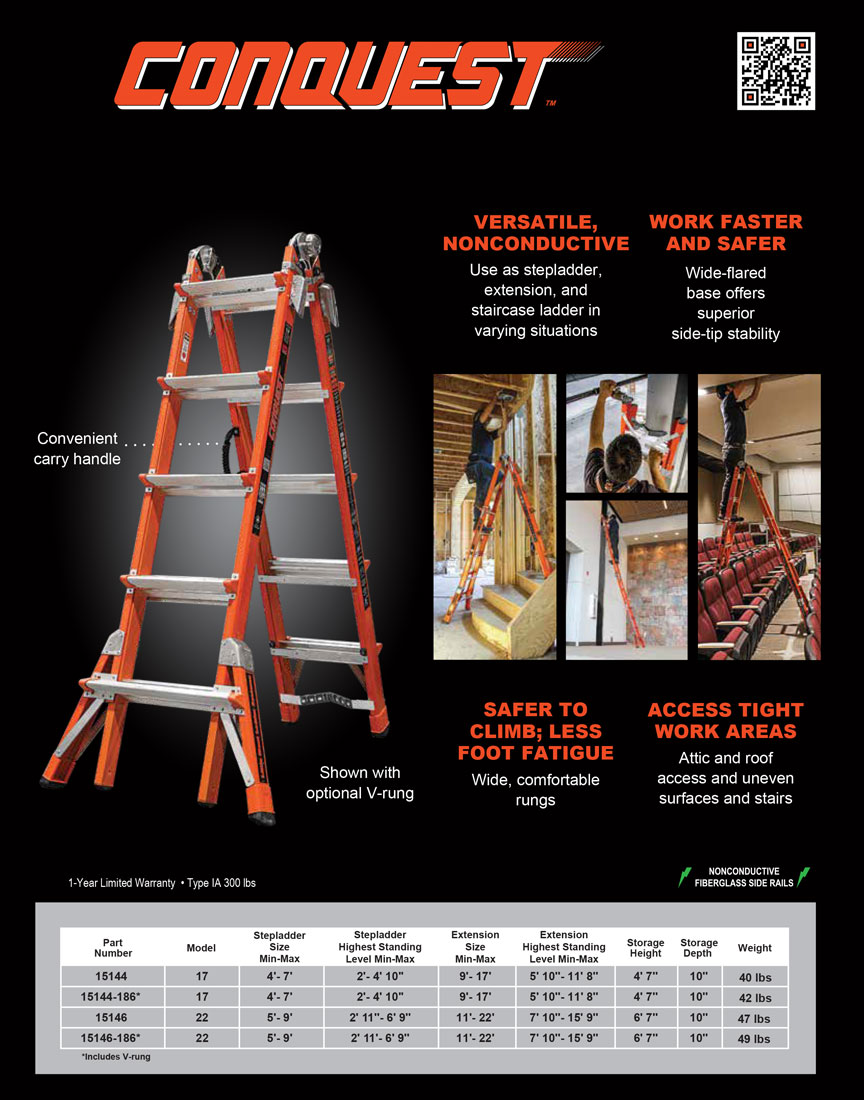 Little Giant Conquest Ladder Technical Specifications
