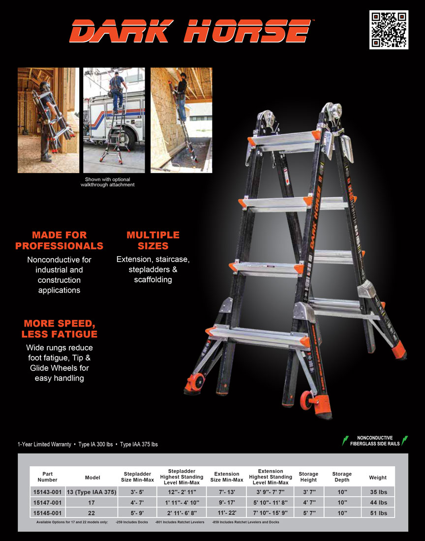 Little Giant Dark Horse Ladder Technical Specifications