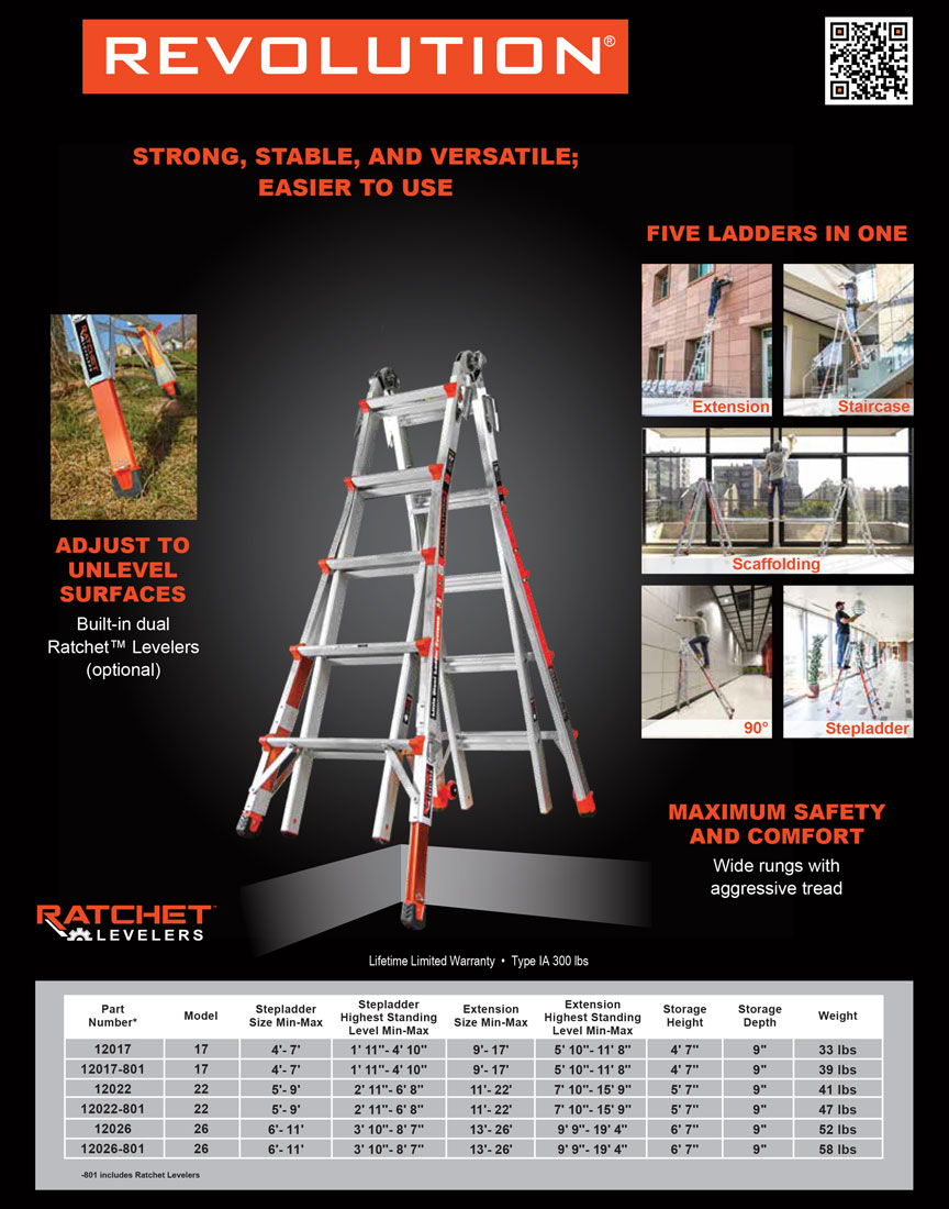 Little Giant Revolution Ladder Technical Specifications