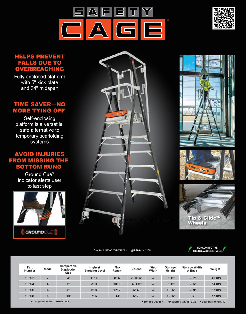 Little Giant Safety Cage Technical Specifications