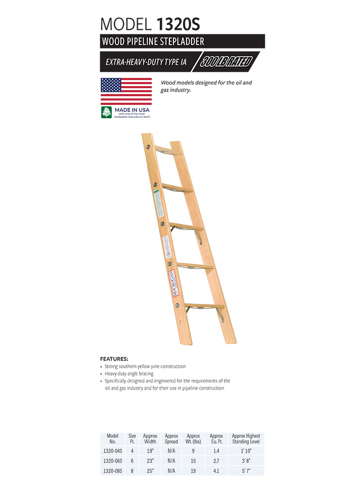 Wood Pipeline Stepladder