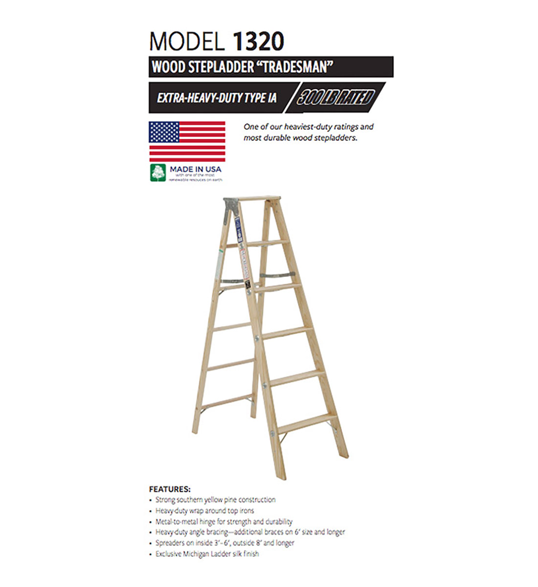 Tradesman Wood Stepladder