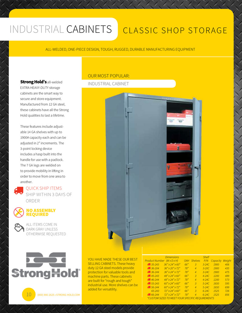 Strong Hold Industrial Cabinet Technical Specifications