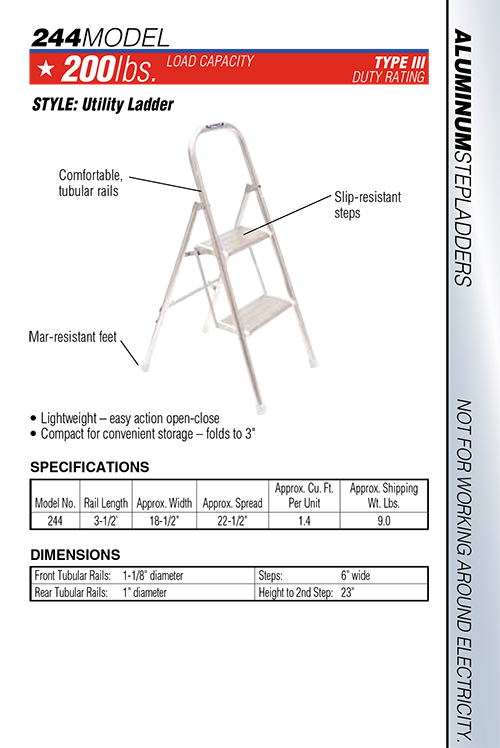 Werner Model 244 Household Step Stool
