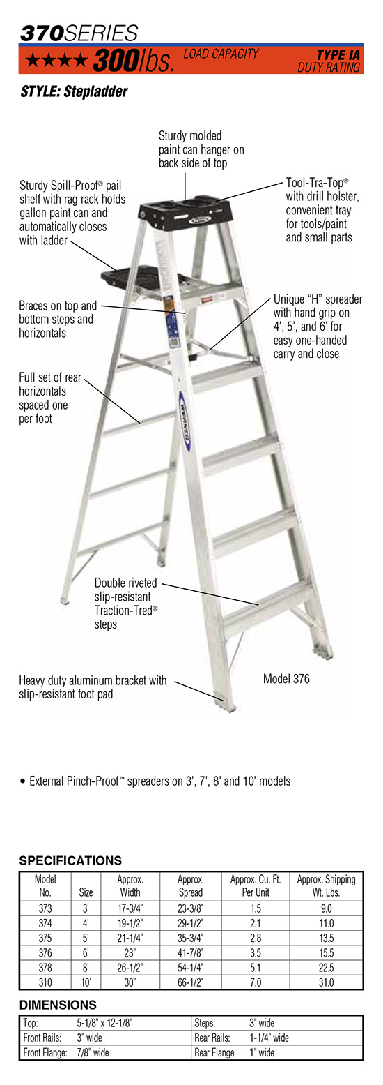 Werner 370 Series Stepladder
