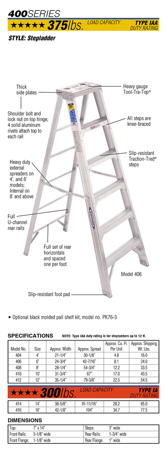 Werner 400 Series Stepladder