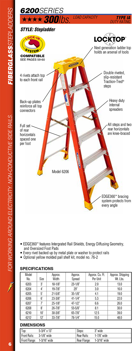 Werner 6200 Series Stepladder