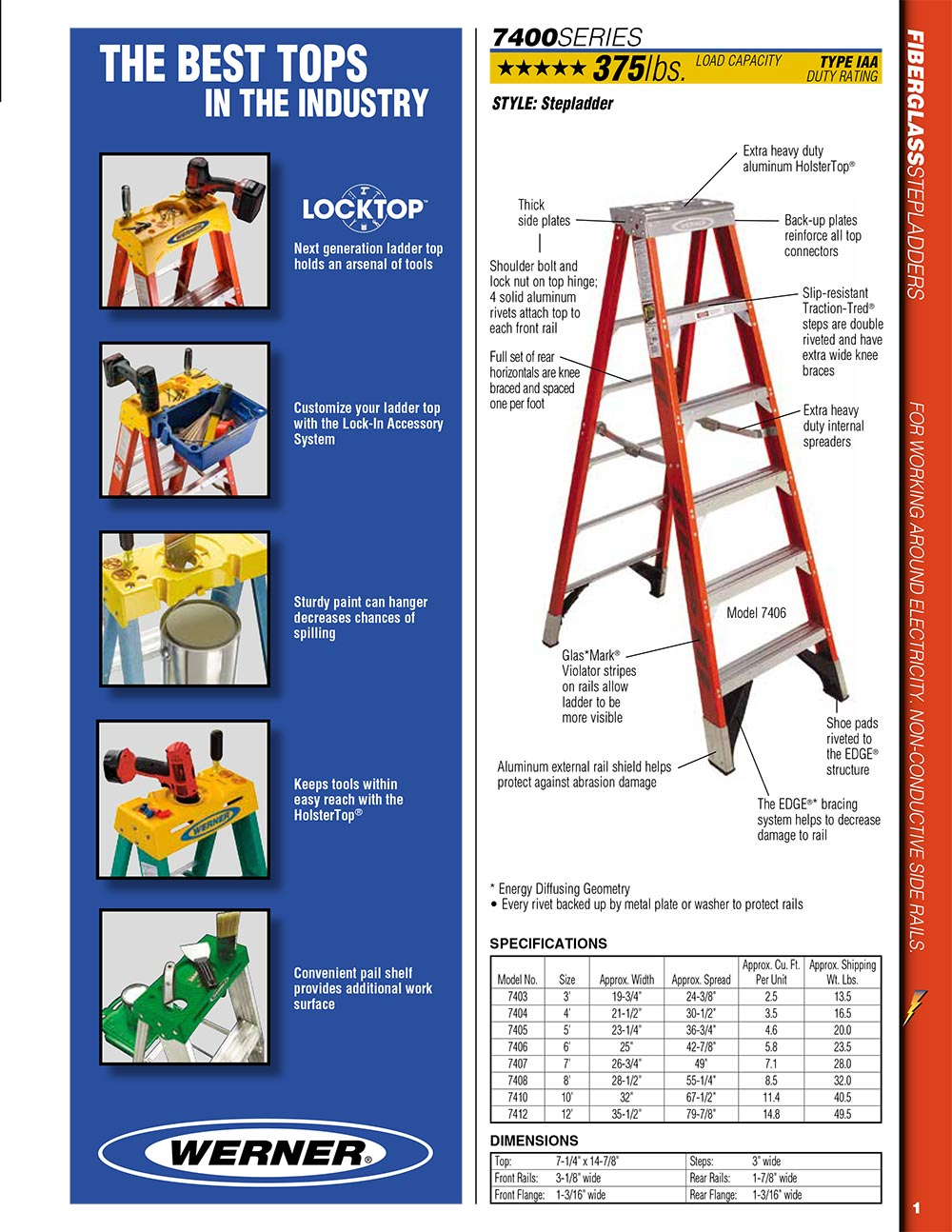 Werner 7400 Series Stepladder