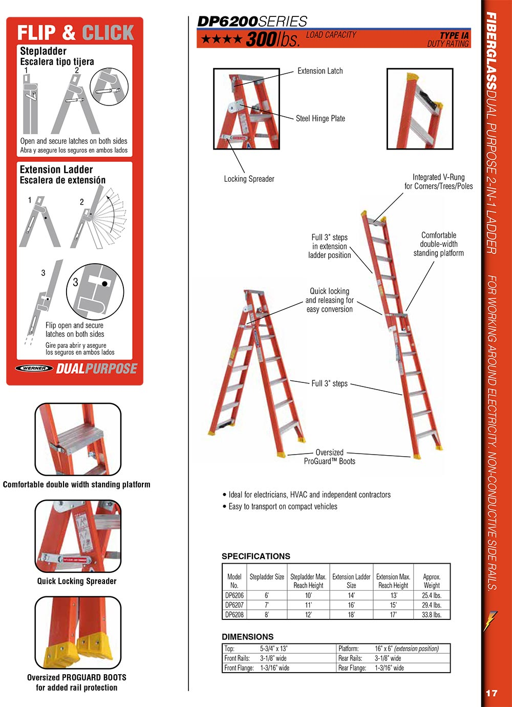 Dp6207 7 Ft Fiberglass Dual Purpose Ladder Type Ia