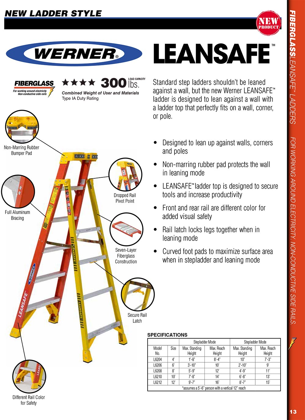 Werner L6200 Series Leansafe Ladder