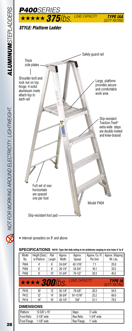 Werner P400 Series Platform Ladder
