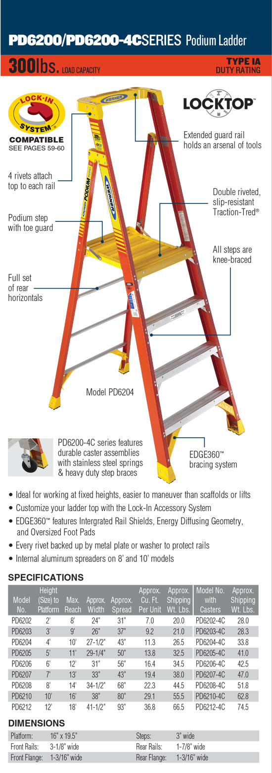 Werner PD6200 Series Podium Ladder
