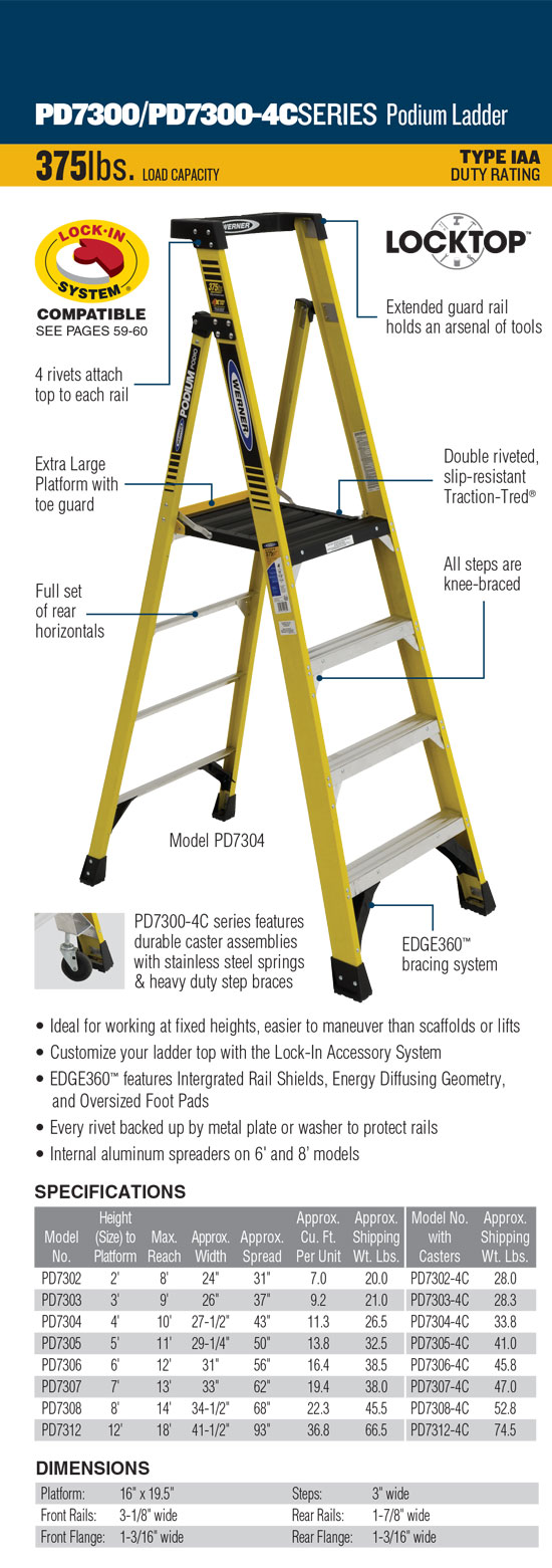 Werner PD7300 Series Podium Ladder