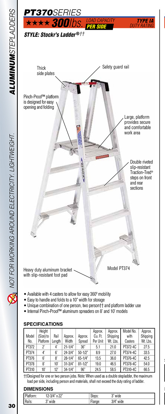 Werner PT370 Series Stockr's Ladder