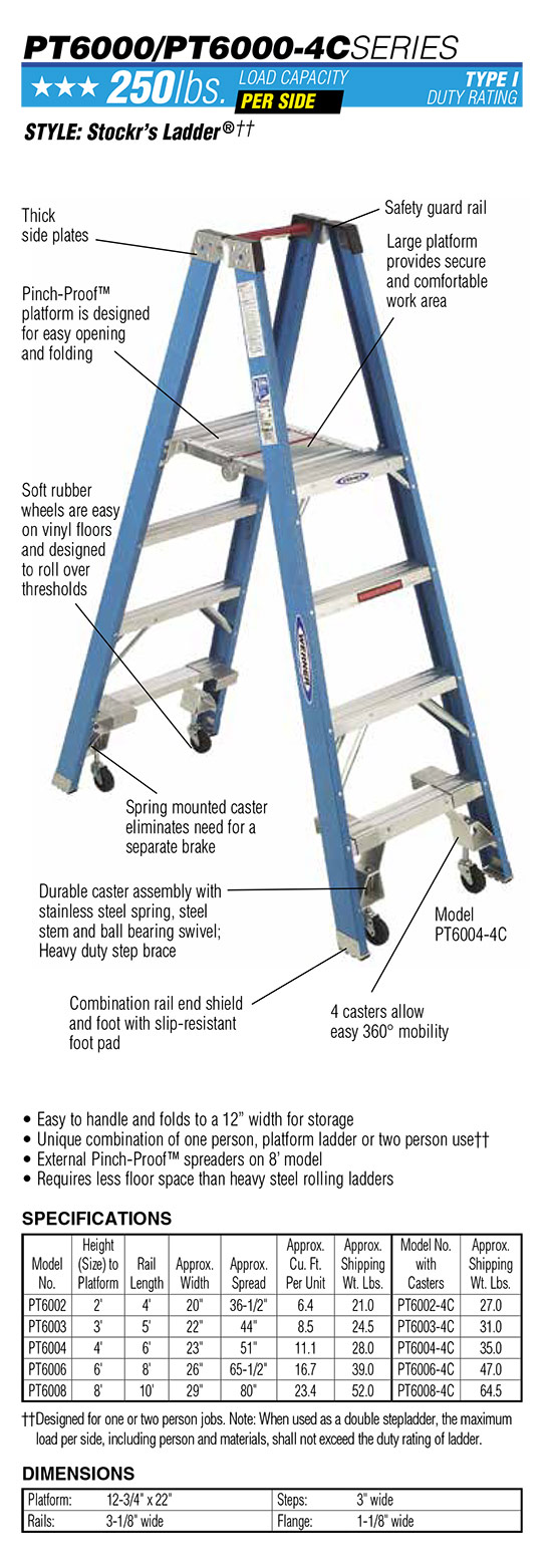 Werner PT6000 Series Stockr's Ladder