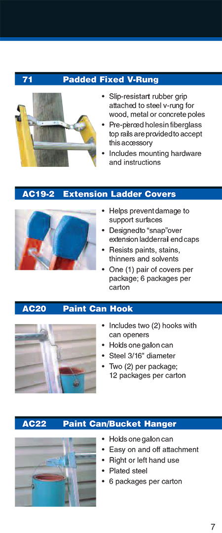 Werner Extension Ladder Accessories