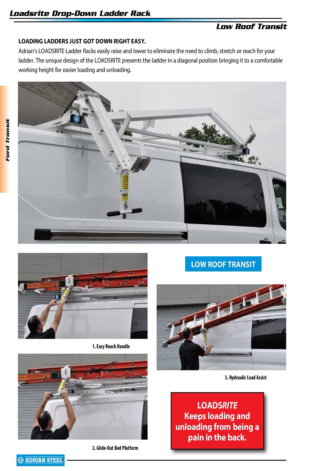 Adrian Steel Ez Load Ladder Rack