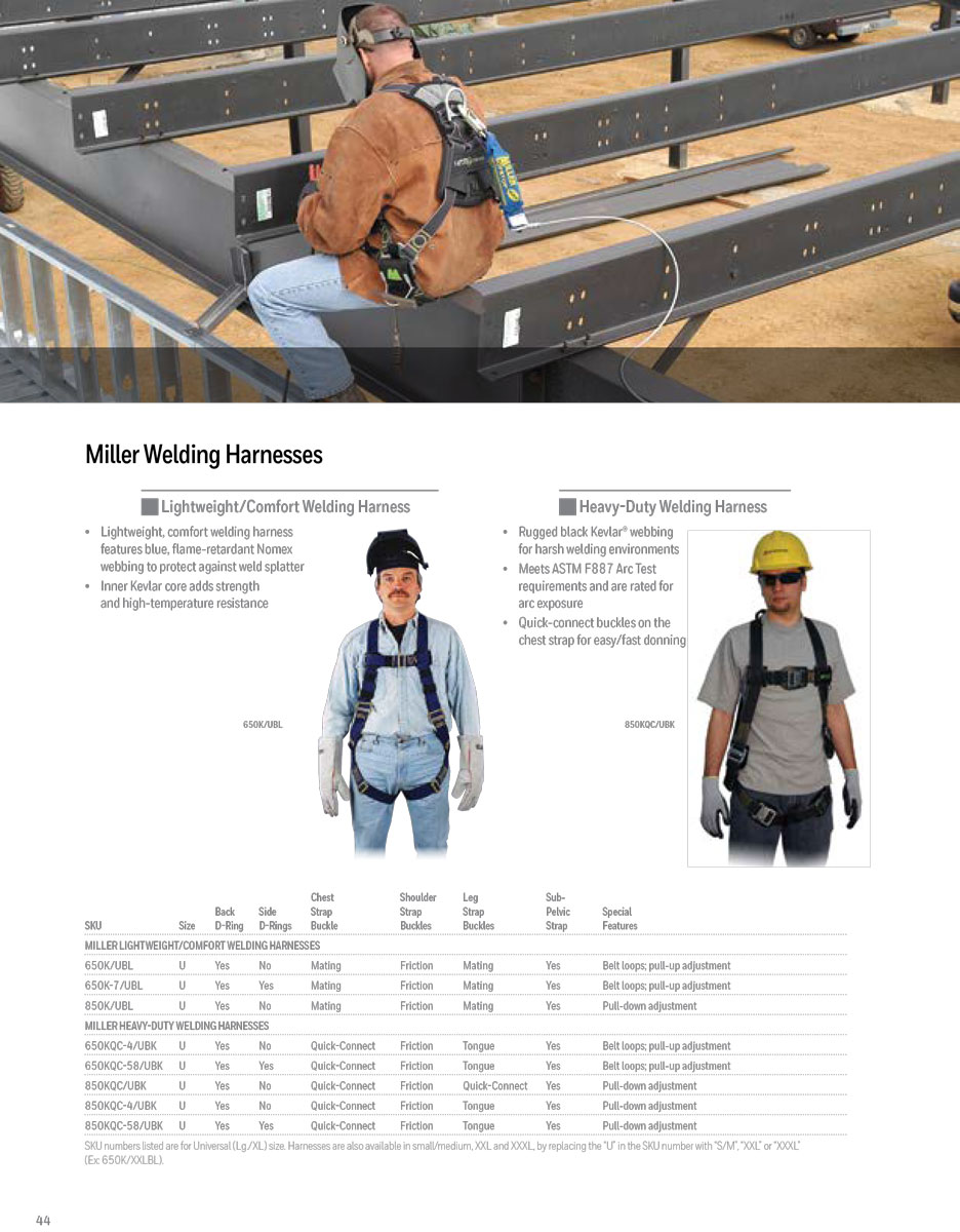 Miller Heavy-Duty Welding Harness