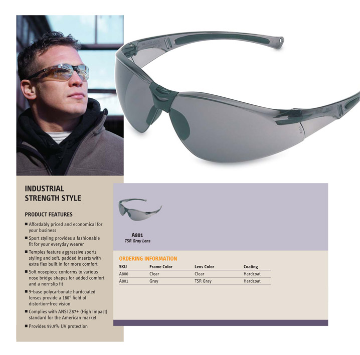 Honeywell Series A800 Safety Glasses