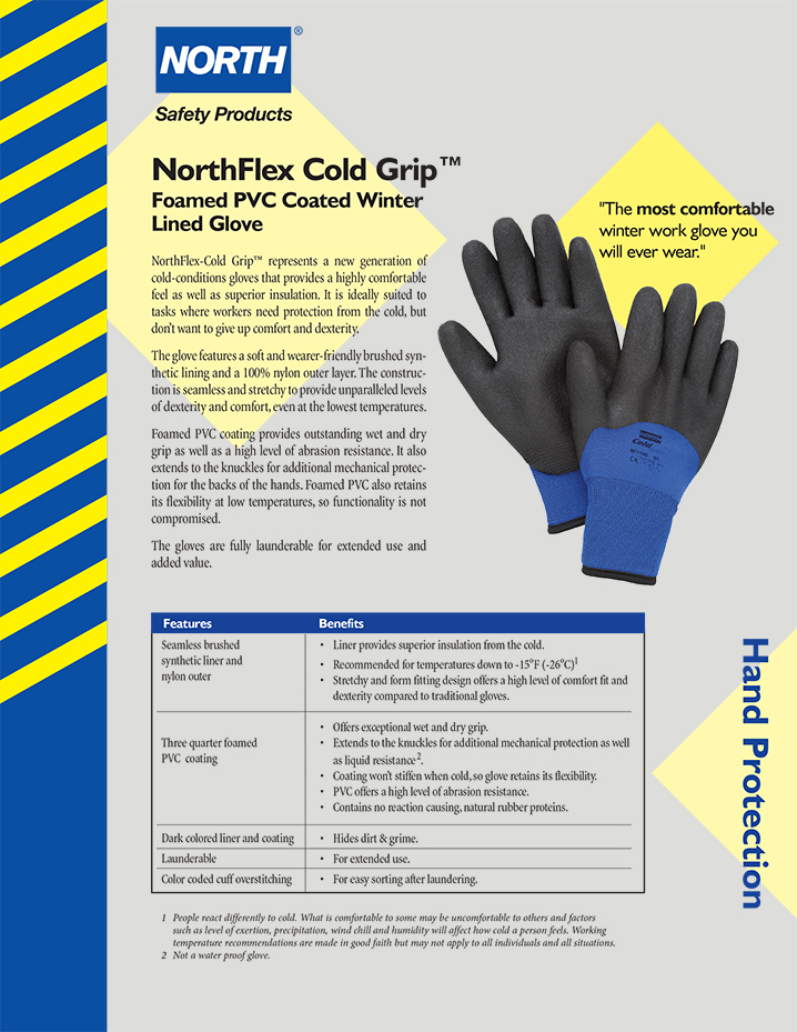 Northflex cold grip winter gloves