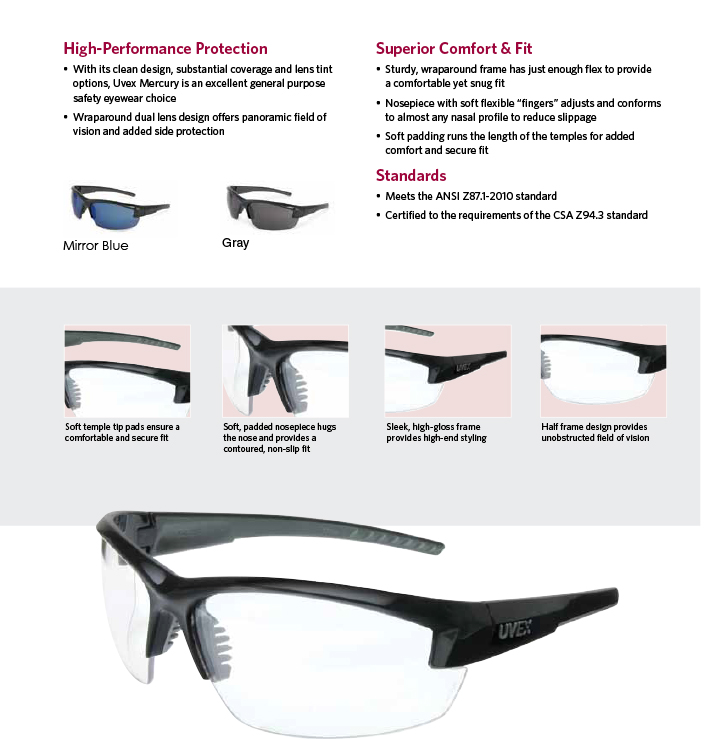 Honeywell S1500 Series Safety Glasses