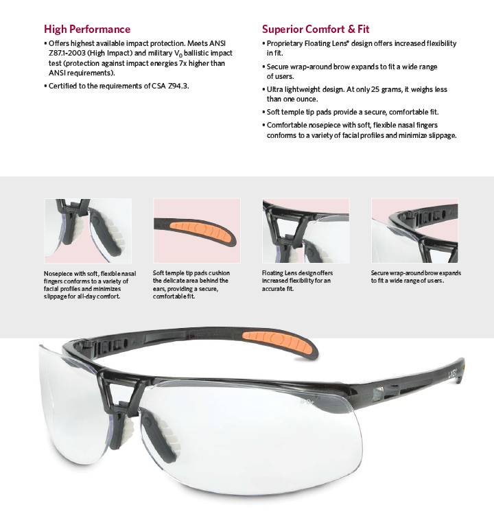Honeywell S4200 Series Safety Glasses