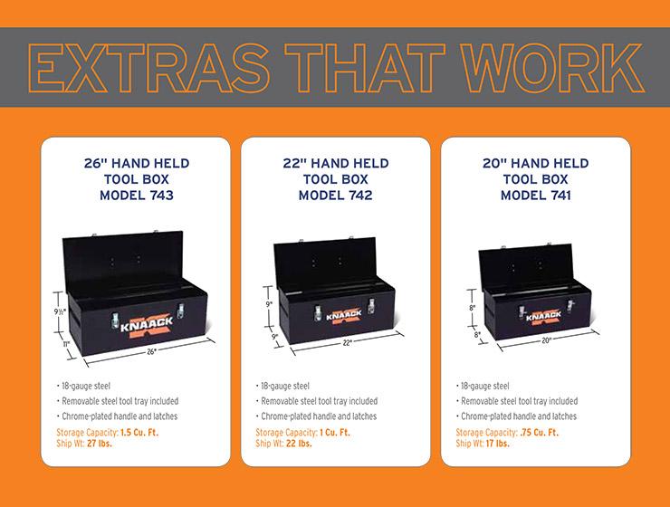 Knaack 20 Hand Held Tool Box Model 741