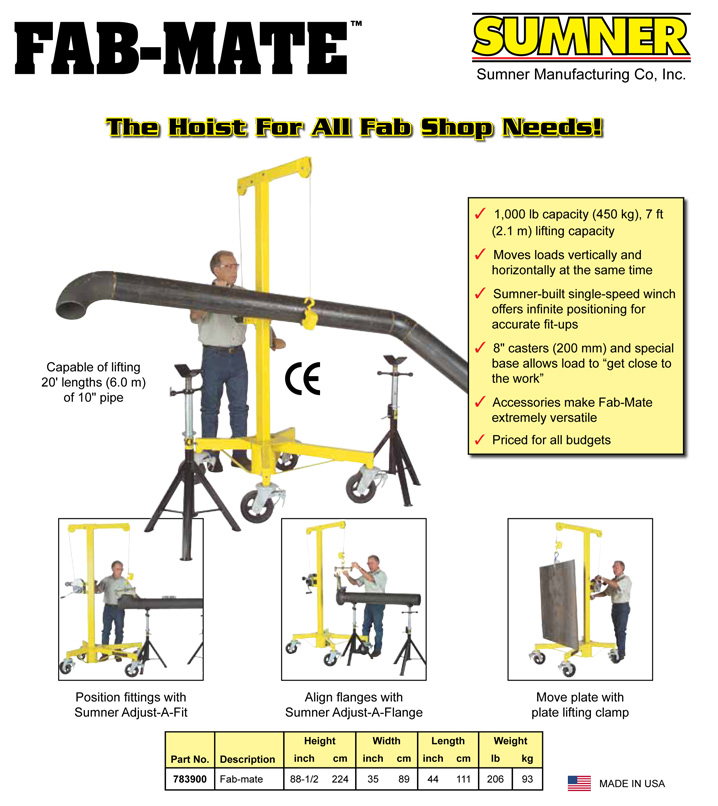 Sumner Fab-Mate Lift Hoist
