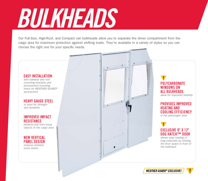 Weather Guard Bulkheads
