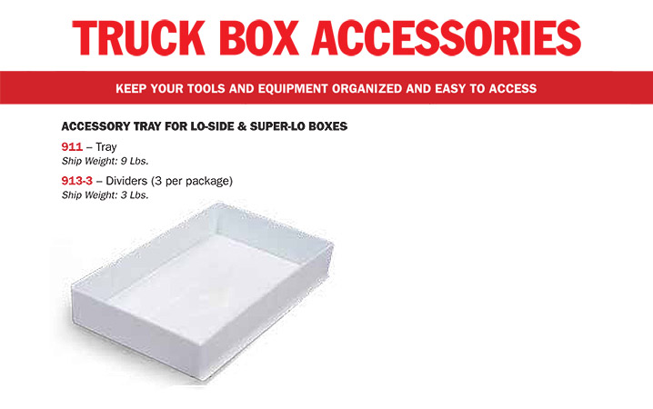 Weather Guard Truck Lo-Side Box Accessories 911 913-3