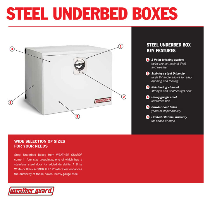 Weather Guard Under Bed Box Steel 560