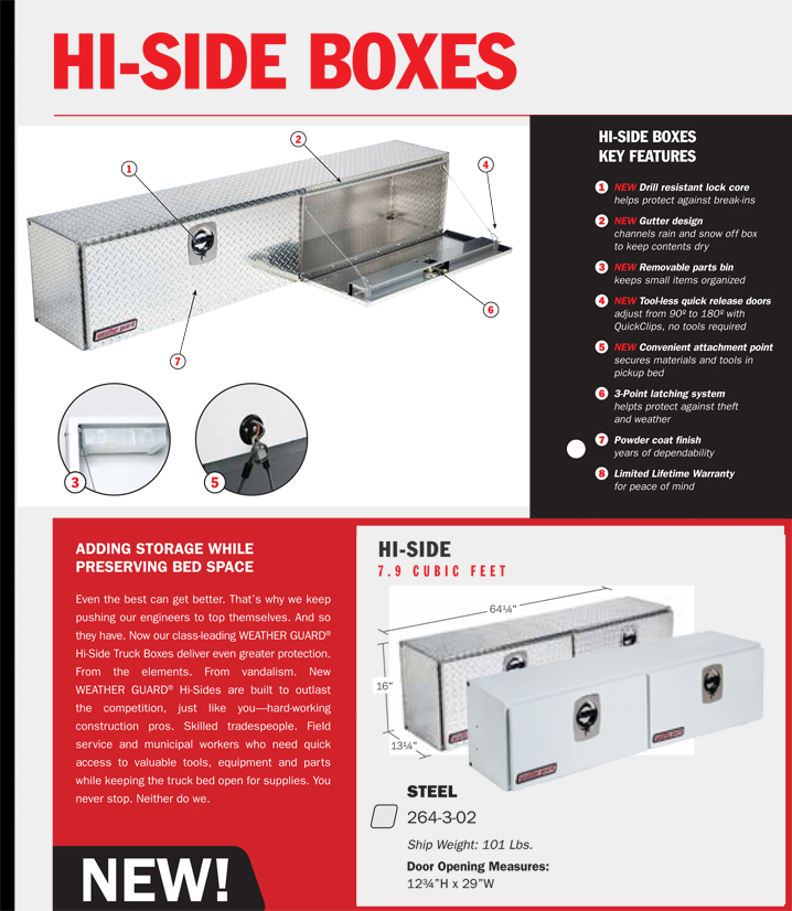 Weather Guard Steel Hi-Side Box Model 264