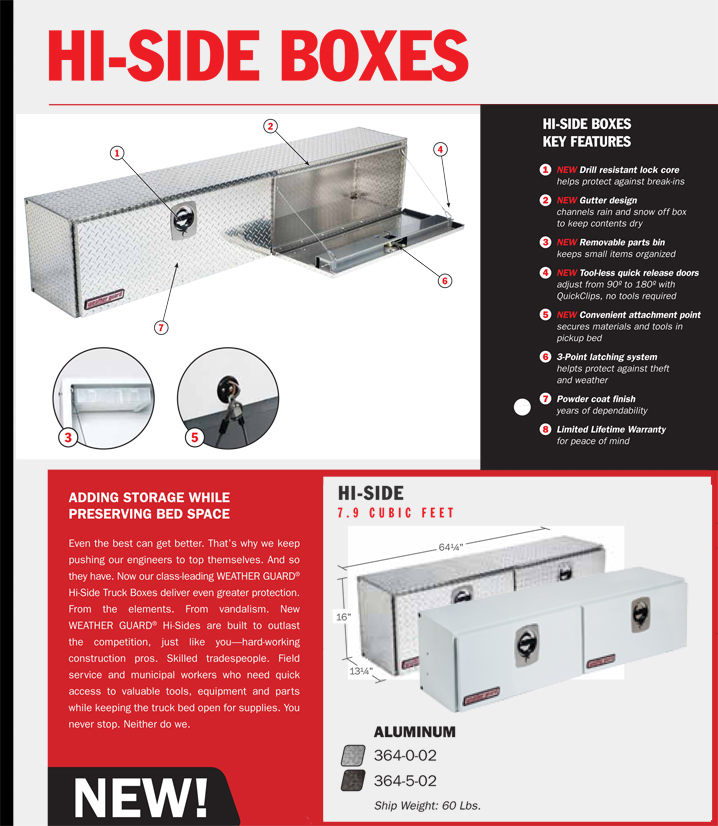 Weather Guard Aluminum Hi Side Box Model 364